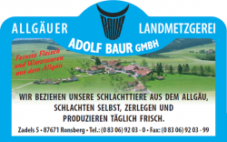 Landmetzgerei Baur in Zadels